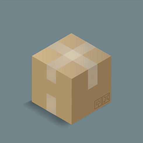 Vetorial, de, caixa recipiente, ícone