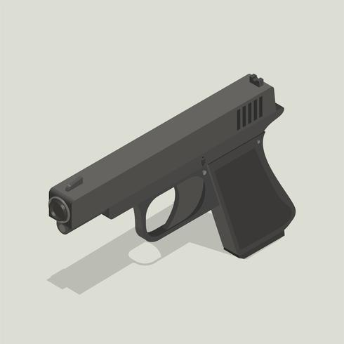 Vector afbeelding van pistool pictogram