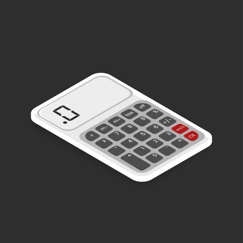 Imagem vetorial de ícone de calculadora