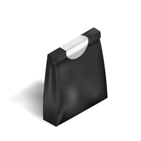 Vektor der schwarzen Beutelbeutelikone