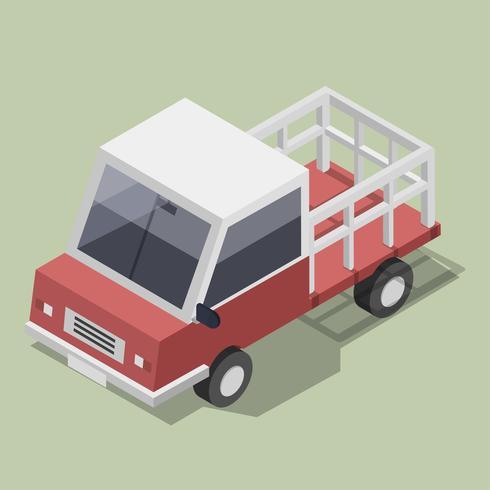 Vetor de ícone de caminhão vermelho