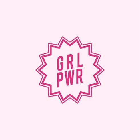 GRL PWR embleem badge illustratie