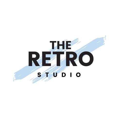 The retro studio logo vector