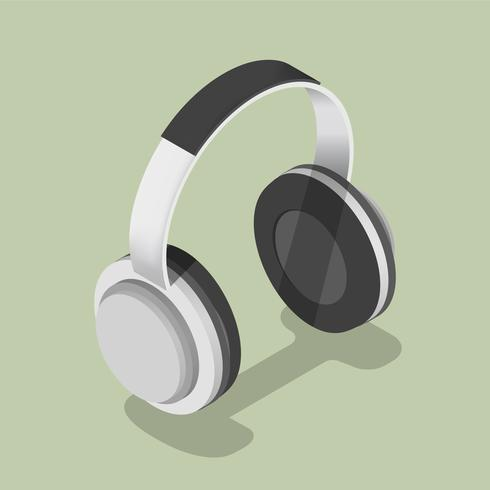 Icône de vecteur d'écouteurs
