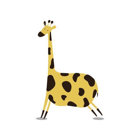 Cute wild giraffe cartoon illustration