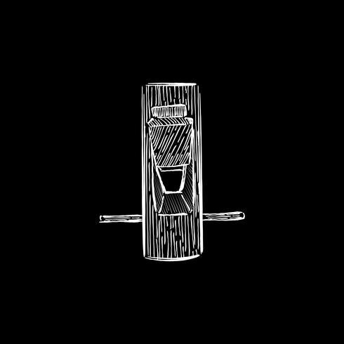 Tappning illustration av ett snickare verktyg