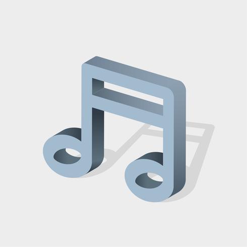 Icono de vector de nota musical
