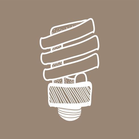 Vetorial, de, um, lightbulb