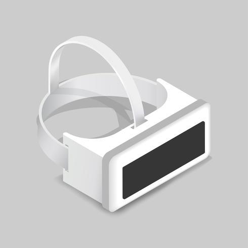 Vector de la imagen del icono de realidad virtual goggle