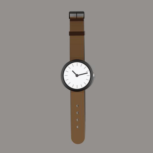 Reloj de pulsera de moda accesorio vectorial.