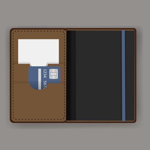 Vetor de equipamento de capa de titular de passaporte