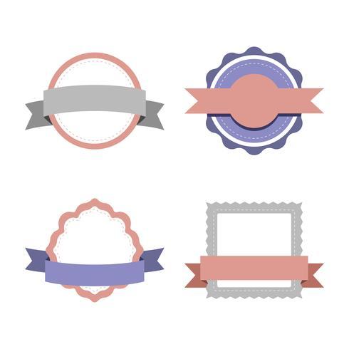Sats med pastellfärgade designvektorer