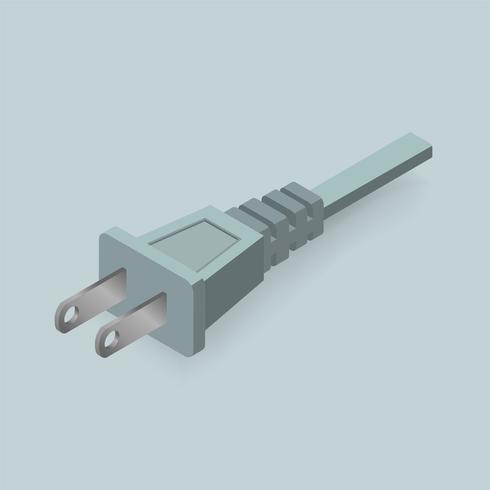 Icône de vecteur de prise électrique