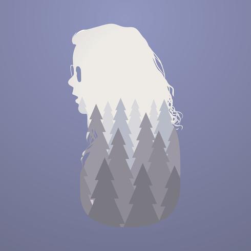 Mujer del bosque vector