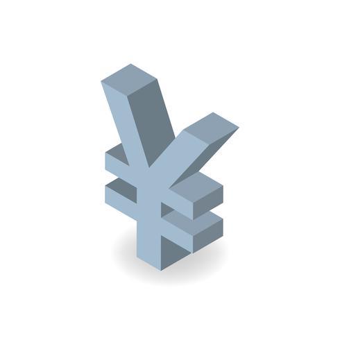 Ícone de vetor do símbolo de moeda iene japonês