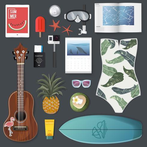 Illustration de l'emballage d'été vecteur