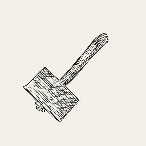 Vintage illustration av en hammare