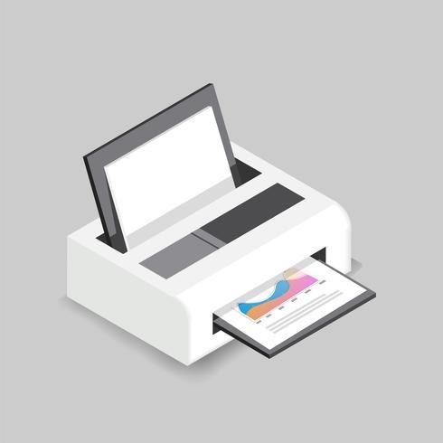 Vector icono de impresora