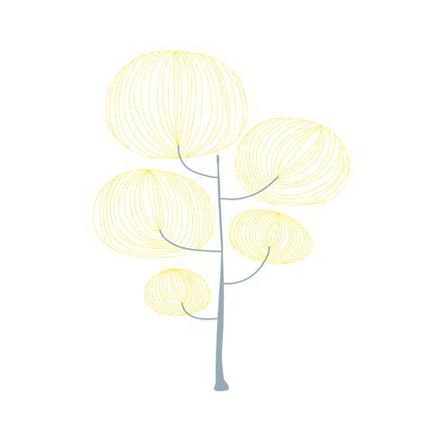 Doodle van een boom
