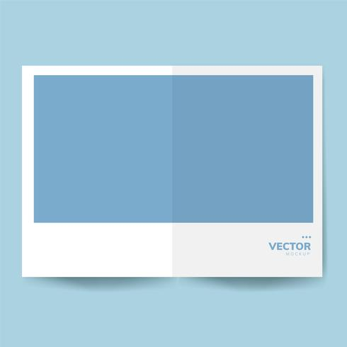Vector de maqueta de plantilla de diseño de folleto