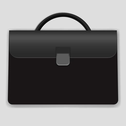 Briefcase business bag vector icon