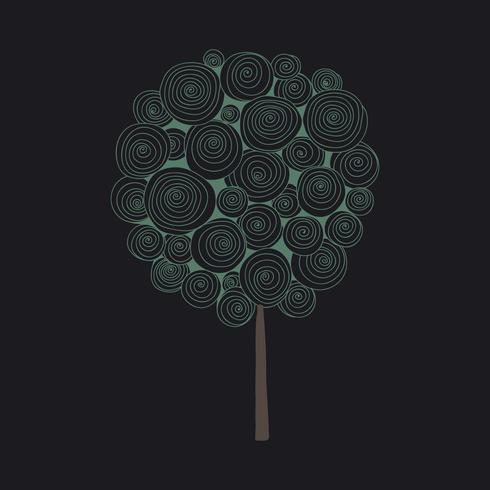 Doodle de un arbol