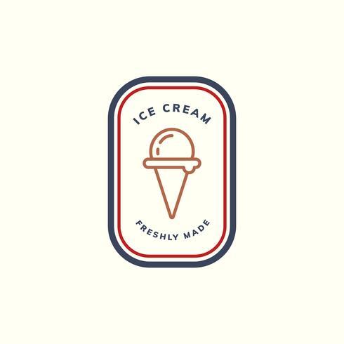 Vettore di logo gelato appena fatto