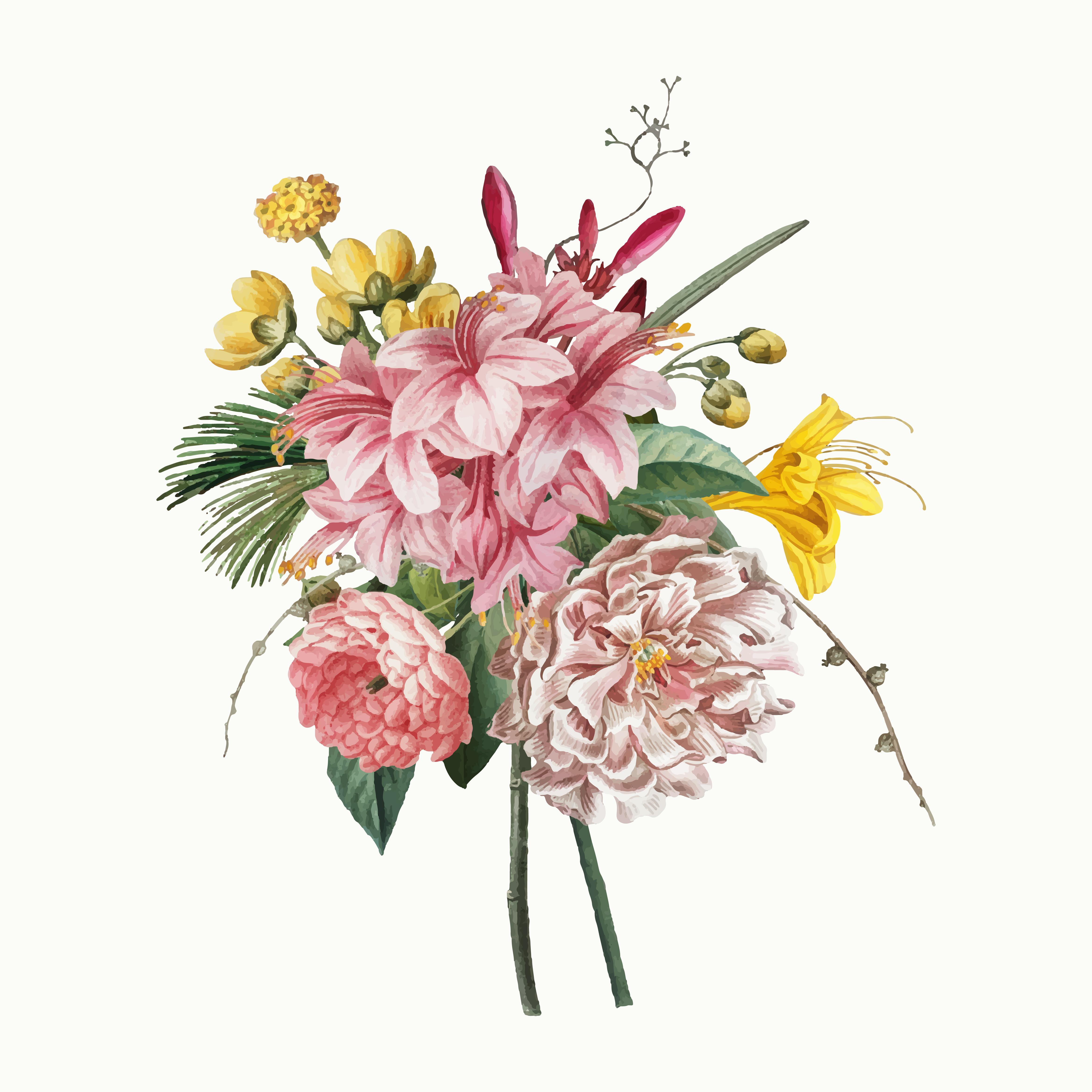 Vintage flower bouquet - Download Free Vectors, Clipart ...