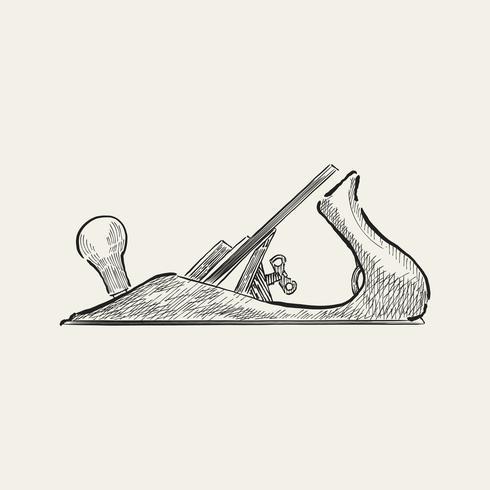 Illustration vintage d'un outil de charpentier