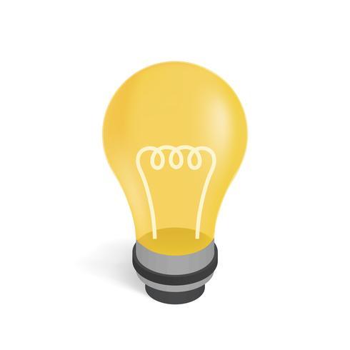 Image vectorielle d'une icône d'ampoule