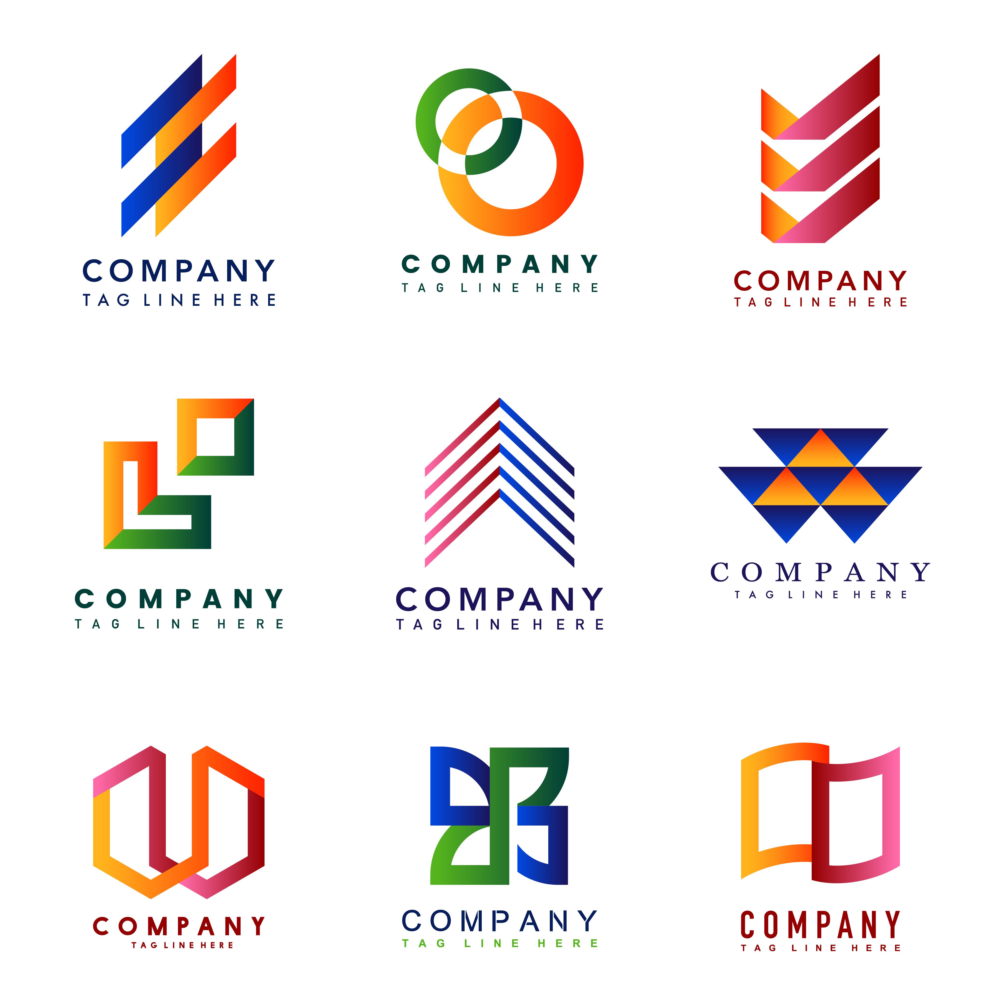 Set of company logo design ideas vector - Download Free ...