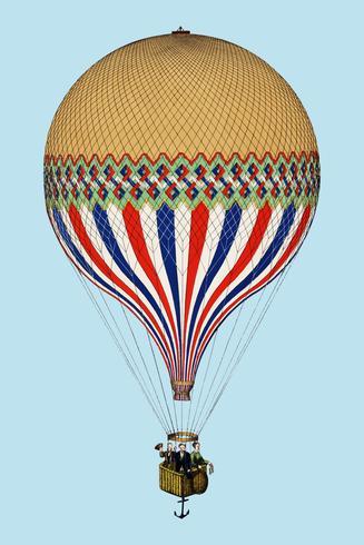 O Tricolor com uma ascensão de balão com tema de bandeira francesa em Paris, 6 de junho de 1874. Original da Biblioteca do Congresso. Digitalmente aprimorada pelo rawpixel.