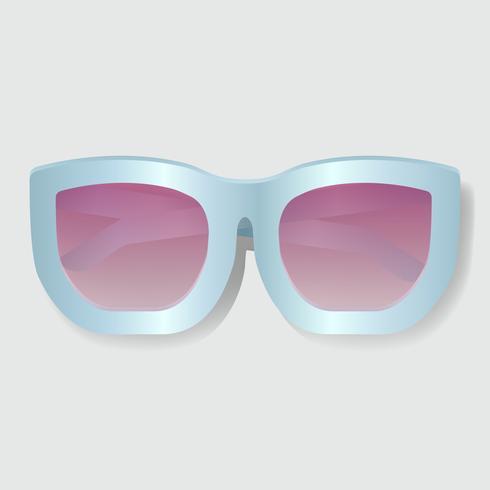 Rosa objektiv med blå ram Solglasögon Vektorillustration