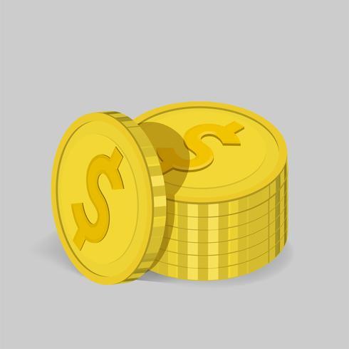 Vektor der Münzenstapelikone