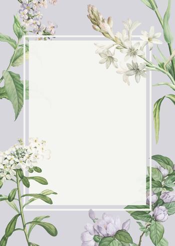 Versierde bloemenlijst