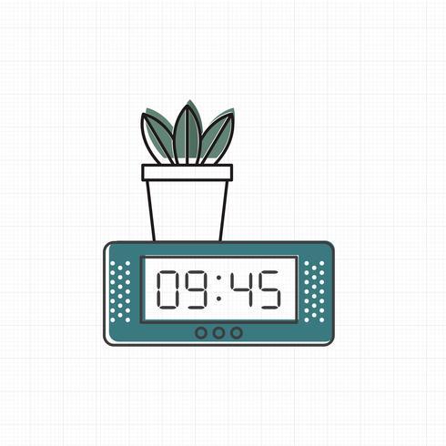 Vetor de ícone de relógio digital