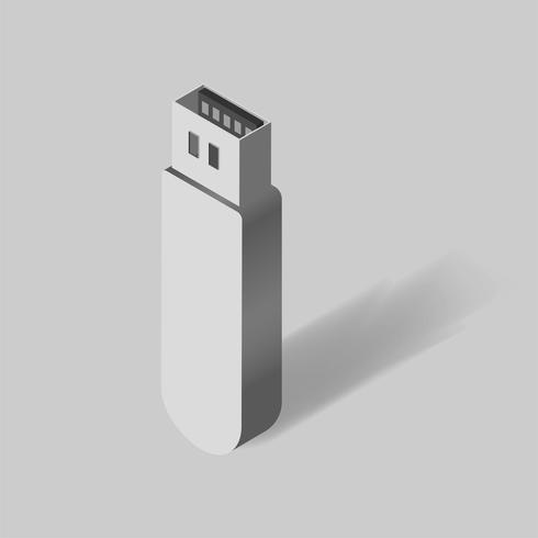 Vector de usb flash drive icon