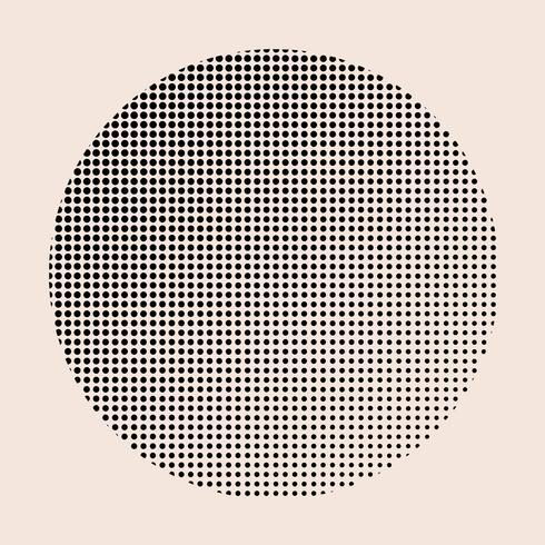 Insignia de semitono negro vintage en vector de fondo beige