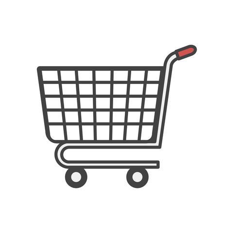 Ilustración del icono de compras en línea