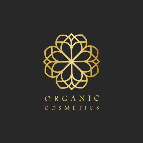 Vetor de logotipo de design de cosméticos orgânicos