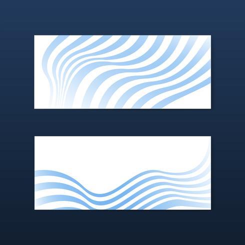 Vettori astratti a strisce astratto blu e bianco