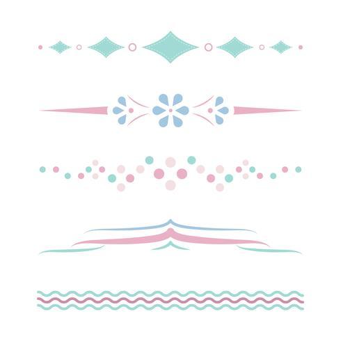Pasteldelare design insamlingsvektor