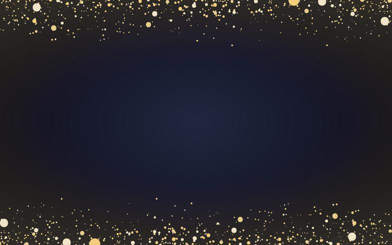 Papier peint minimal avec des particules de paillettes d'or décoratives