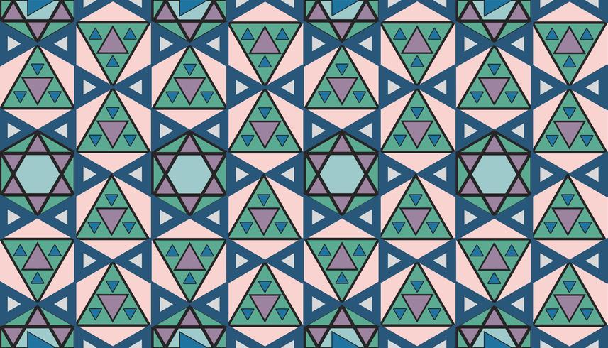 Vintage geometriskt mönster inspirerat av Grammatik av prydnad