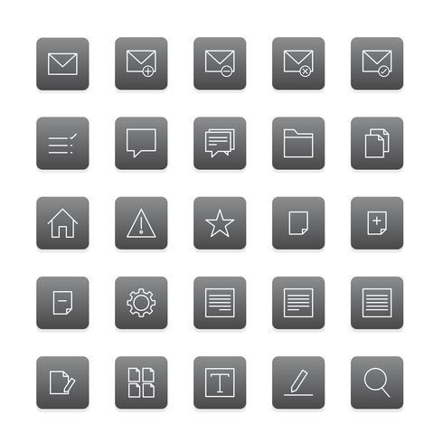 Vektor uppsättning webbplats ikoner