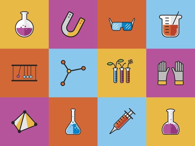 Verzameling van chemie vectoren