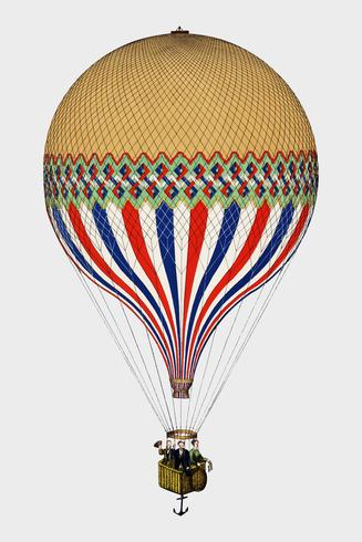 The Tricolor with a French flag themed balloon ascension in Paris, June 6th 1874. Original from Library of Congress. Digitally enhanced by rawpixel. vector