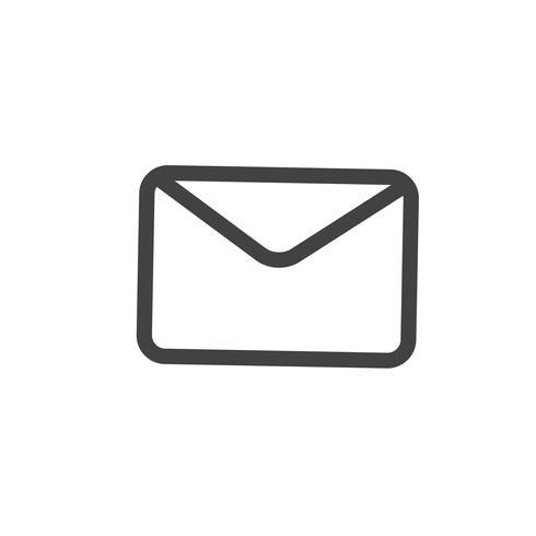 Illustration de l'icône de courrier