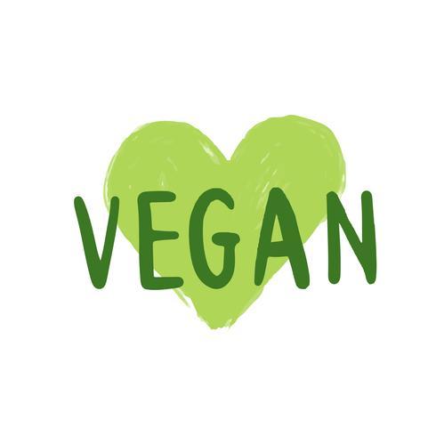 Vetor de tipografia vegan em verde