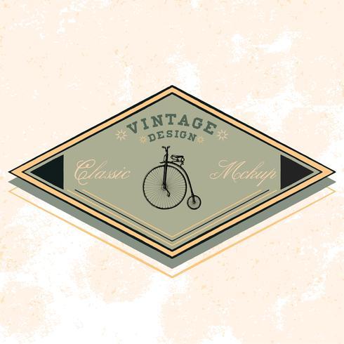 Vecteur de conception de logo maquette classique
